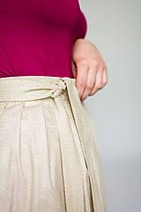 Sukne - Zavinovací sukně Beige Twist - 9576636_