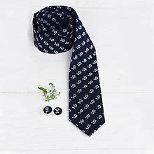 Doplnky - Modrotlač kravata slim