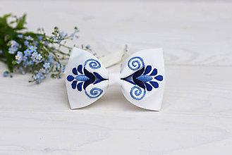 Doplnky - Vyšívaný pánsky motýlik - 9577681_