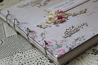 Papiernictvo - Romantický svadobný fotoalbum - 9578288_