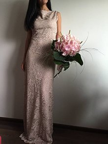 Šaty - Vintage ružová krajka - 9577835_