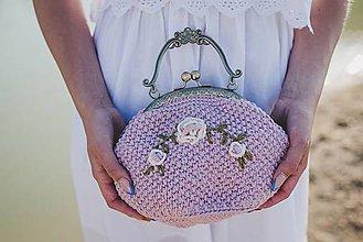 Kabelky - Romantická kabelka s ružami - 9577002_