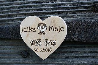 Darčeky pre svadobčanov - magnetka drevená-svadobná16 - 9577891_