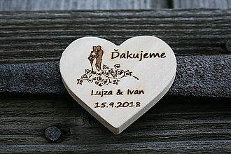 Darčeky pre svadobčanov - magnetka drevená-svadobná18 - 9577935_