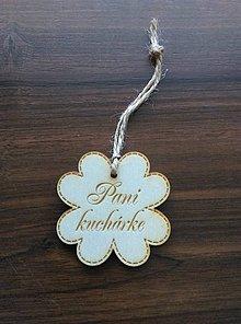 Darčeky pre svadobčanov - Štvorlístok s nápisom (Pani kuchárke) - 9577044_