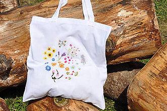 Nákupné tašky - Lúka plná kvetov - 9577608_