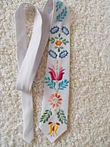 Doplnky - kravata biela pánska - 50% - 9577151_