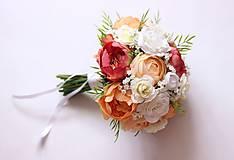 Kytice pre nevestu - Romantická svadobná kytica3 - 9577355_