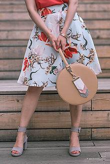 Sukne - Svetlomodrá kvetinová sukňa - 9577820_