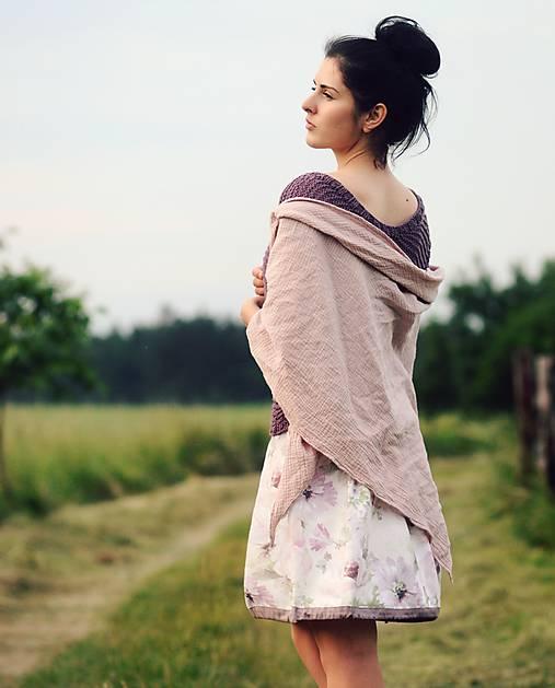 Starorůžový šátek