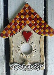 Dekorácie - Keramický domček - závesný - 9576589_