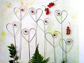 Dekorácie - srdce s korálikom - 9577472_