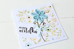 Papiernictvo - pohľadnica pre pani učiteľku - 9577161_