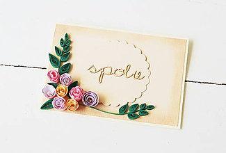 Papiernictvo - svadobná pohľadnica - 9578398_
