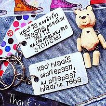 Kľúčenky - ... vyber si text a urob radosť príveskom - 9578584_