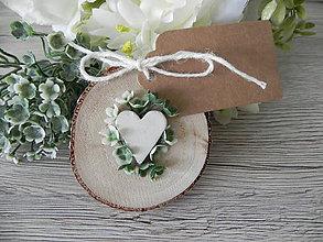 Darčeky pre svadobčanov - Svadobná magnetka - greenery:-) - 9579600_