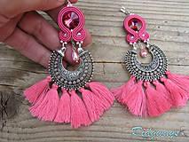 Hippie collection...soutache (Pink tassels)