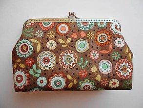 Taštičky - Kozmetická taštička kvety - 9581143_