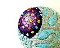 Odznaky/Brošne - Brošnička fialová medúza - 9578881_