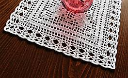 Úžitkový textil - Biela háčkovaná dečka - 9580773_