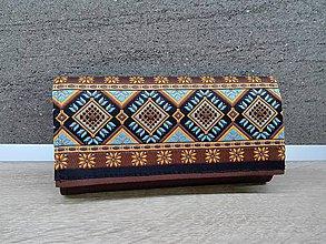 Peňaženky - Peňaženka na 12 kariet,koženka,bavlna - 9579883_