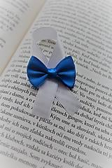 Svadobné pierko kráľovská modrá mašlička