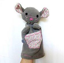 Hračky - Maňuška myš - Myška z Ružového dvora - 9581122_
