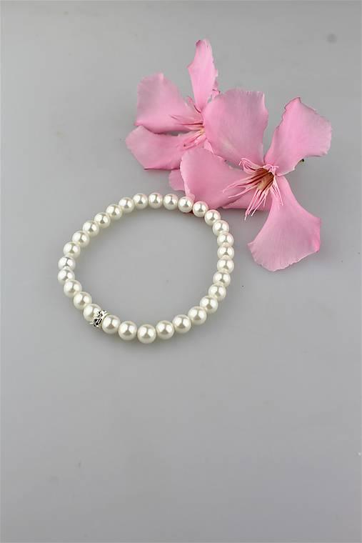 perly swarovski náramok (korálky 6mm)