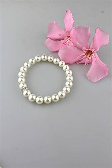 Náramky - perly swarovski náramok (korálky 8mm) - 9581200_