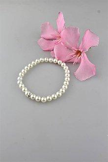 Náramky - perly swarovski náramok (korálky 6mm) - 9581439_