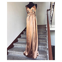 Šaty - Saténové šaty - 9579638_