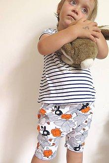 Detské oblečenie - kraťasy z biobavlny Hilda - 9581546_