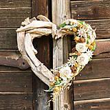 Dekorácie - Veľké drevené srdce - 9580213_