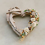 Dekorácie - Veľké drevené srdce - 9580214_