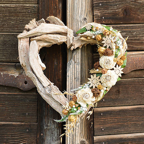 Veľké drevené srdce
