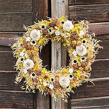 Dekorácie - Prírodný veniec na dvere - 9580044_
