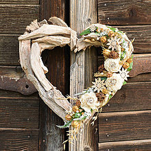 Dekorácie - Veľké drevené srdce - 9580301_
