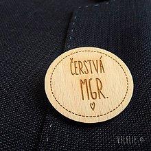 Odznaky/Brošne - Odznak k promóciám . pure (Čerstvá Mgr.) - 9579165_