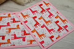 Úžitkový textil - Detské prestieranie-ŽIRAFY ŽIRAFOVÉ :-) - 9580506_
