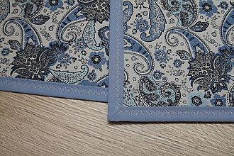 Úžitkový textil - PRESTIERANIE- modré ornamenty-na ľudovo II. - 9580455_
