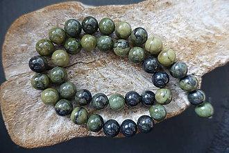 Minerály - Jaspis africký zelený 10mm - 9579742_