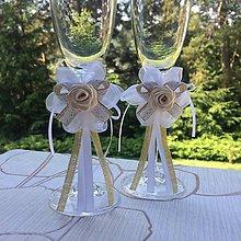 Dekorácie - Dekorácie na svadobné poháre - 9578566_