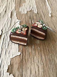 Náušnice - čokoládové tortičky s ovocím (II.) - 9580486_