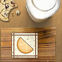 Dekorácie - Stracciatella potlač na koláčik ovocná edícia (pomaranč) - 9578551_