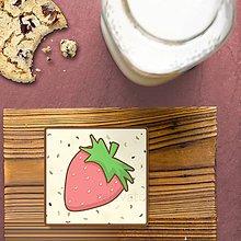 Dekorácie - Stracciatella potlač na koláčik ovocná edícia (jahoda) - 9578554_