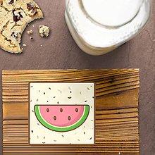 Dekorácie - Stracciatella potlač na koláčik ovocná edícia (melón) - 9578920_