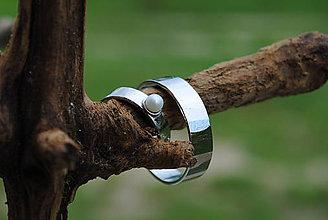 Prstene - Obrúčky tepané s perlou - 9581710_