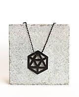 Náhrdelníky - Kovový geometrický prívesok ICOSAHEDRON - 9582881_