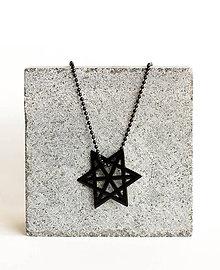 Náhrdelníky - Kovový geometrický prívesok MERKABA - 9582878_