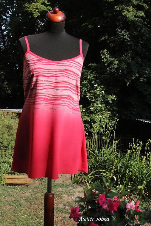 Hedvábné šaty Proužky   jobka - SAShE.sk - Handmade Šaty 7845e058c8